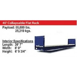40' Collapseable Flat Rack